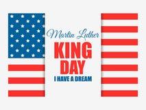 luther martin короля дня сновидение имеет I Поздравительная открытка с американским флагом День Mlk вектор бесплатная иллюстрация
