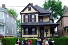 Luther's house. Tourists in front of The historic house of martin luther king at atlanta in america Stock Photos