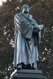 Luther statue worms germany. A luther statue in worms germany stock image