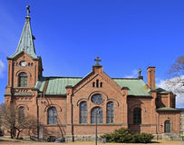 Lutheran cathedral in Jyvaskyla, Finland. In a sunny spring day stock photos