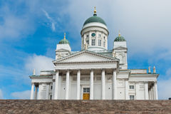 Lutheran cathedral in the Old Town of Helsinki Royalty Free Stock Images