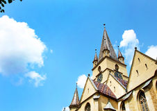 The Lutheran Cathedral of Saint Mary, the most imposing church in Sibiu, Romania Stock Photography