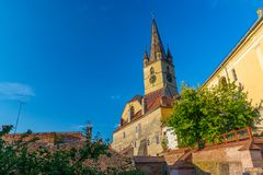 Lutheran Cathedral of Saint Mary in Sibiu, Transylvania region, Romania.  royalty free stock photo