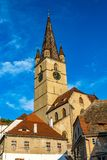 Lutheran Cathedral of Saint Mary in Sibiu, Transylvania region, Romania.  stock photography