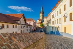 Lutheran Cathedral of Saint Mary in Sibiu, Transylvania region, Romania.  stock image