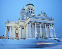 Lutheran Cathedral - winter morning Royalty Free Stock Photo