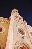 Lutheran church. From Bucharest, at night stock photography