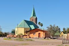 Lutheran church in Berseba, Namibia Royalty Free Stock Images