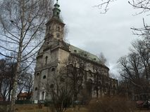 Lutheran Church in Cieszyn, Poland winter. royalty free stock photography