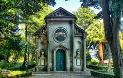 Lutheran church in Cristal Palace gardens stock images