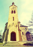 Lutheran church in Dubulti, Jurmala, Latvia. The church was built in 1909 with traits of asymmetry and in national Latvian romanticism style. Architect W Royalty Free Stock Images