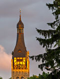 Lutheran church in Dubulti, Jurmala, Latvia. The church was built in 1909 with traits of asymmetry and national Latvian romanticism style. Architect W. Bokslaf Royalty Free Stock Photo