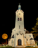 Lutheran church in Dubulti, Jurmala, Latvia. The church in Dubulti was built in 1909 with traits of asymmetry and national Latvian romanticism style. Architect W Stock Image