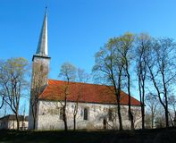 Lutheran church , Estonia . Old lutheran church , Johvi , Estonia Royalty Free Stock Images
