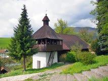 Lutheran church in Istebne village, Slovakia. stock photo