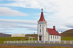 Lutheran church in Kopasker, Iceland Royalty Free Stock Photography