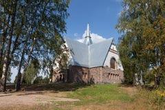 Lutheran Church Melnikovo. Leningrad region. Stock Photo