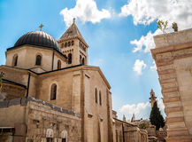 Lutheran Church of the Redeemer. View on Lutheran Church of the Redeemer in Jerusalem Royalty Free Stock Photography