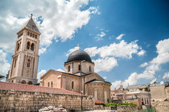 Lutheran Church of the Redeemer. View on Lutheran Church of the Redeemer in Jerusalem Stock Photo