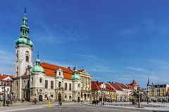 Lutheran church and town hall Royalty Free Stock Photos