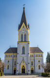 Lutheran Church in Trinec, Czech Republic. Evangelical church in Trinec is a neo-Gothic church with lancet windows, Frydek-Mistek District in Czech Republic Stock Photos