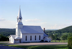 Lutheran Country Church, Ontario, Canada. Lutheran church set in the rolling hills of Ontario, Canada royalty free stock image