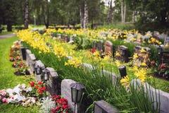 Lutheran graven in Kalevangangas, Tampere stock foto's