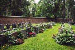 Lutheran graven in Kalevangangas, Tampere stock afbeeldingen