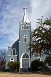 Lutheran kerk bij boerderij LBJ Royalty-vrije Stock Afbeeldingen