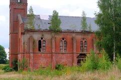 Lutheran Kerk 1891 brutocrescenta, het oude rode baksteengebouw stock foto's