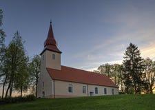 Lutheran Kerk van Araisi, Vidzeme, Letland Royalty-vrije Stock Fotografie