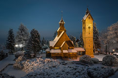 Lutheran parish Wang in Karpacz 3, Poland Stock Photos