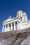 Lutherandomkyrka i Helsingfors, Finland Arkivbilder