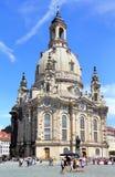 Lutherankyrka Dresden Frauenkirche i Dresden Royaltyfri Bild