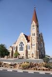Lutherankyrka i Windhoek Arkivbild