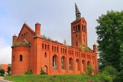 Lutherankyrka, objekt av kulturarvet i staden av Ozyorsk Arkivfoto
