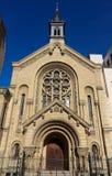 Lutheranprotestantkyrkan av bonen-Secours grundades i 1854 på hjärtan av Faubourg Helgon-Antoine i Paris royaltyfri fotografi
