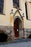 Lutherische Kirche Ansicht der mittelalterlichen Stadt Sighisoara Stockfotos