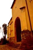 Lutherische Kirche in der mittelalterlichen Stadt Sighisoara Stockbild