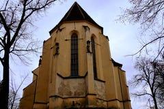 Lutherische Kirche in der mittelalterlichen Stadt Sighisoara Lizenzfreie Stockfotografie
