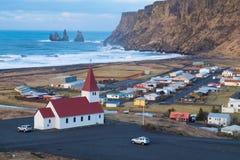 Lutherische Kirche in Vik island Lizenzfreie Stockbilder