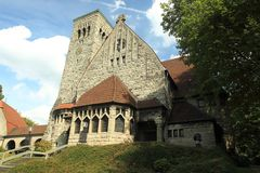 Lutherkerk in Bochum Royalty-vrije Stock Fotografie