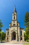 Lutherkirche en kyrka i Konstanz, Tyskland arkivfoto