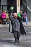 Lutin dans le défilé Ottawa, Canada de jour du ` s de St Patrick Photographie stock libre de droits