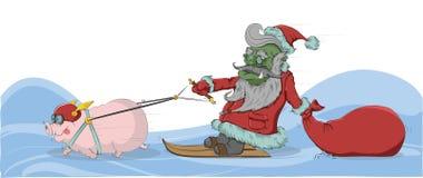 Lutin - Santa Claus Photos libres de droits