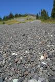 lutning för bergcirkelscree Arkivfoto