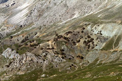 Lutning för högt berg arkivfoto