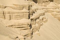 Lutningar av sandväggen Arkivfoto