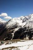 Lutningarna och glaciären Arkivfoton