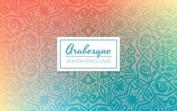 Lutningbakgrund med arabesquedesigntextur Royaltyfria Foton